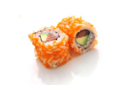 Tobikko roll saumon avocat