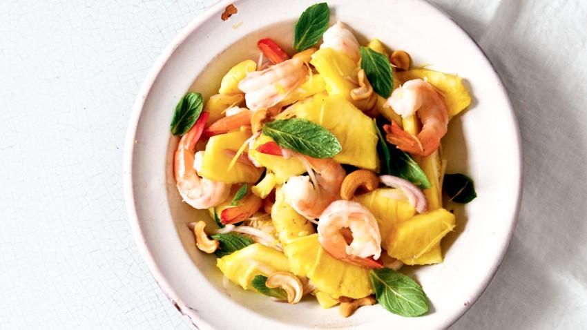 Salade thaï aux ananas et crevette