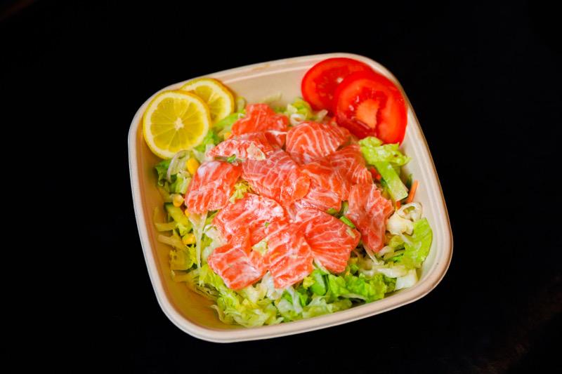 S5🍣🥬 salade saumon au cru mariné +boissons offerte (nouveauté 🔥🔥🔥)
