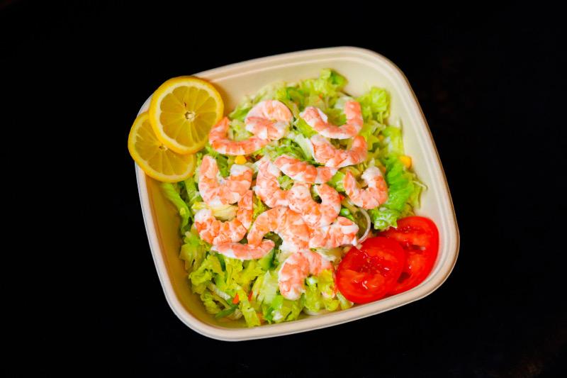 S4🦐🥬  salade soja aux crevettes+boissons offerte