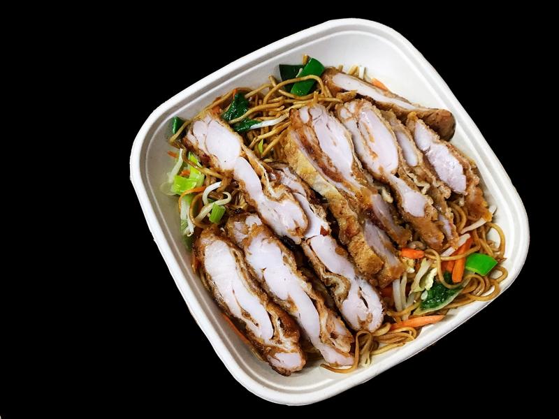 N1 Nouilles au poulet + boisson offerte