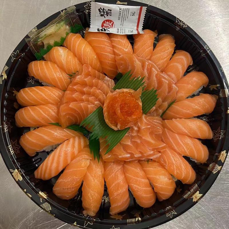 Hkyoto Box 106 (Nigiri salmone 22pz.Sashimi salmone 20)