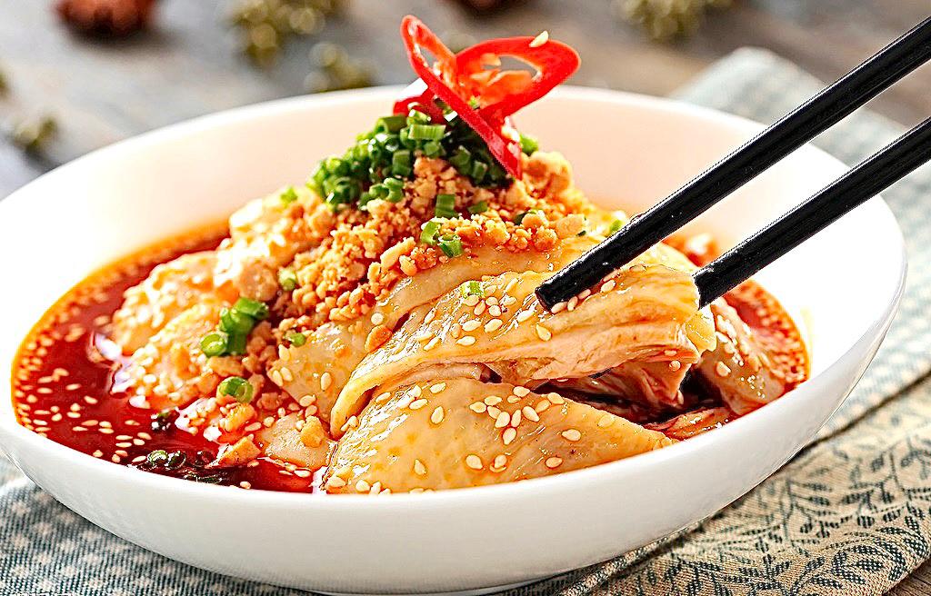 A2.Poulet froid avec sauce huile rouge