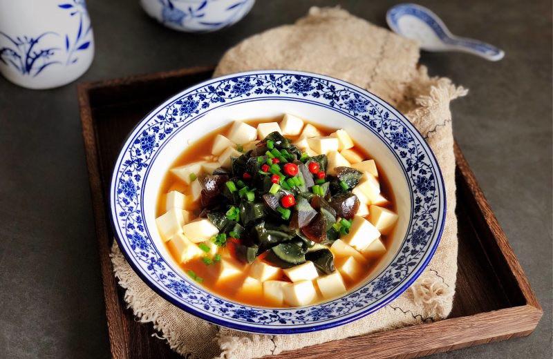 A0. Preserved egg et Tofu pinquant